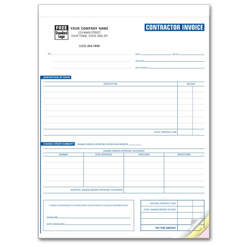 remodeling invoice template