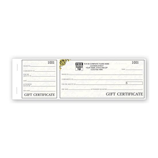 personalized gift certificate book with carbon copy designsnprint