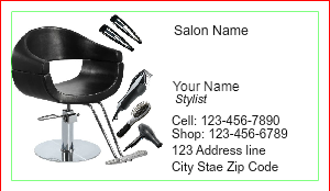 [Image: Salon Business Cards with Appointment on Back]