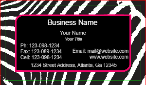 [Image: Animal Print Business Card Design]
