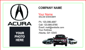 [Image: Acura Dealership Business Cards]