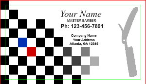 [Image: checkout with Custom Barber Business Card Design]