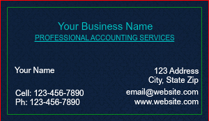 [Image: Tax Consultant Business Card]