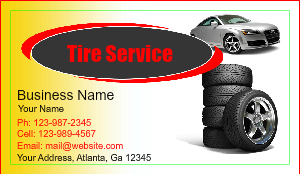 Tire shop business card designs designsnprint auto tire sale business card design colourmoves