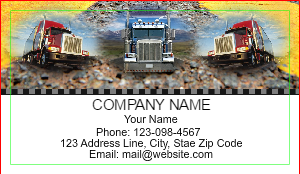 [Image: Trucking Company Business Cards]