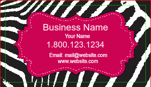 [Image: Zebra Print Business Card Design]