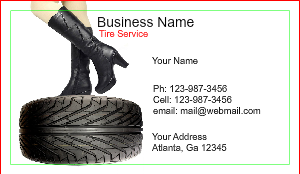 Tire shop business card designs designsnprint tire shop business card template colourmoves