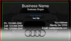 [Image: checkout with Business Card For Audi Dealer]