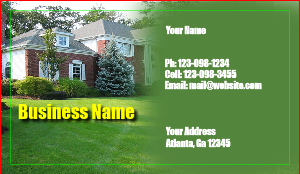 [Image: checkout with Lawncare Business Card]
