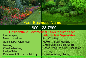 [Image: checkout with Design Landscaping Flyer]