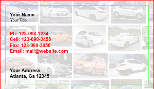[Image: checkout with Hyundai Auto Sales Business Cards]