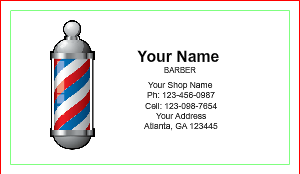 Barber shop business cards designsnprint basic barber business card template wajeb Image collections