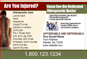 [Image: Chiropractor postcard templates - 123]