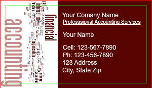 [Image: Accounting Business Card]