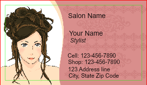 [Image: checkout with Hair Salon Business Card]