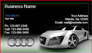 [Image: Audi Business Card Template]