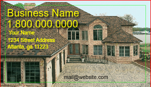 [Image: Roofing Contractor Business Card]