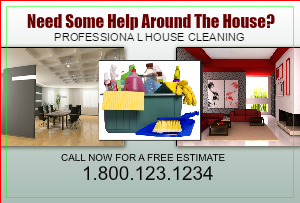 [Image: House Cleaning Postcard Template]