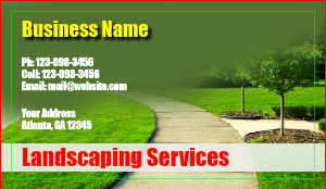 [Image: checkout with Landscaping Business Card Design]