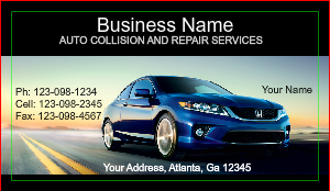 [Image: Auto Collission Business Card]