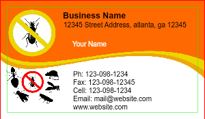[Image: checkout with Exterminator Pest Control Business Card]