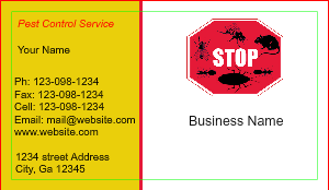 [Image: Pest Control Business Cards]