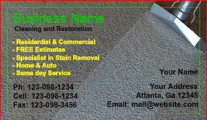 [Image: Carpet Cleaning Business Cards]