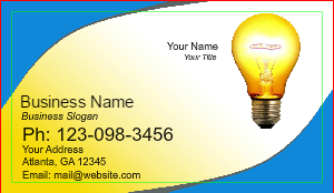 electrician business card template - Electrician Business Cards