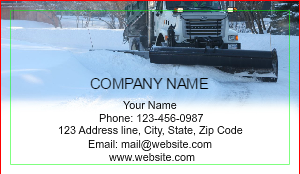 Trucking company business cards designsnprint image checkout with snow plow truck template colourmoves Images