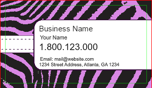 [Image: Zebra Print Business Cards Design]