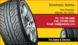 [Image: Custom Wheels Business Cards]