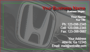 [Image: checkout with Business Card For Honda Dealer]