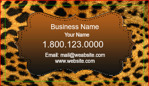 [Image: Leopard Print Business Cards]