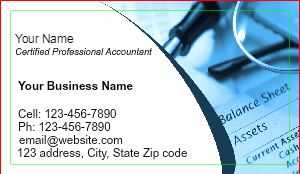 [Image: Accountant Business Card]