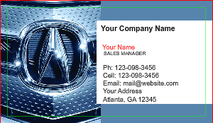 [Image: Acura Business Card]