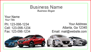 [Image: checkout with Honda Corporate Business Card Design]