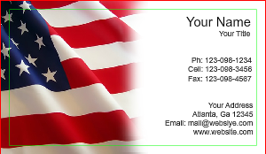 [Image: Military and Patriotic Business Cards]