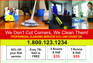 [Image: Cleaning Service Postcard Marketing]