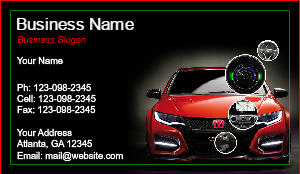 [Image: checkout with Honda Business Card]