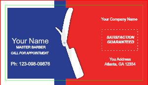 [Image: black american barber shop business card]