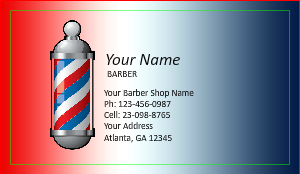 Barber shop business cards designsnprint barber shop business cards template wajeb Image collections