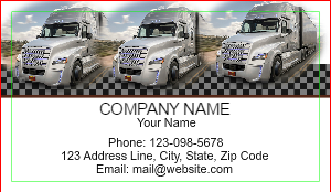 [Image: checkout with Truck - transportation & logistics business card]