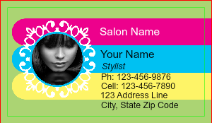 [Image: Beauty Parlour Business Card]