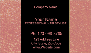 [Image: checkout with Pink Glitter Beauty Salon Business Card]