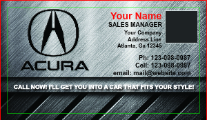 [Image: Acura Dealer Business Cards]