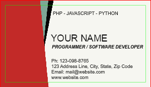 [Image: checkout with Software Developer Business Card Templates]