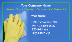 [Image: Cleaning Service Business Cards]