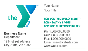 [Image: YMCA Business Card Design]