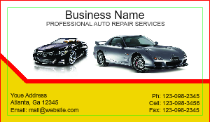 [Image: checkout with Auto Paint Business card]