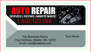 [Image: checkout with Auto Mechanic Business Card]